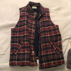 Flannel vest